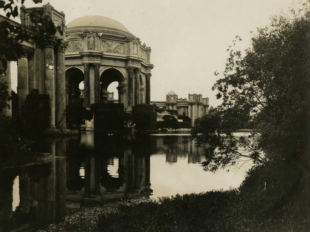 San Francisco Palace of Fine Arts. Photographer: Jesse B. Cook. Courtesy California Historical Society.