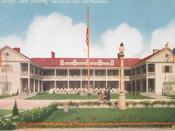 New Jersey State Building, Panama-Pacific International Exposition. Pacific Novelty Company. Courtesy of Ron Plain.