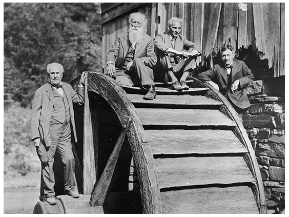 (Left to right) The Self-Proclaimed Vagabonds: Thomas Edison, John Burroughs, Henry Ford, and Harvey Firestone, 1918; The Henry Ford Collection