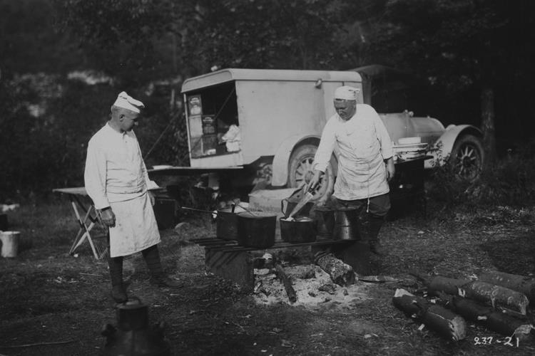 Chefs Cooking for the Group, 1921