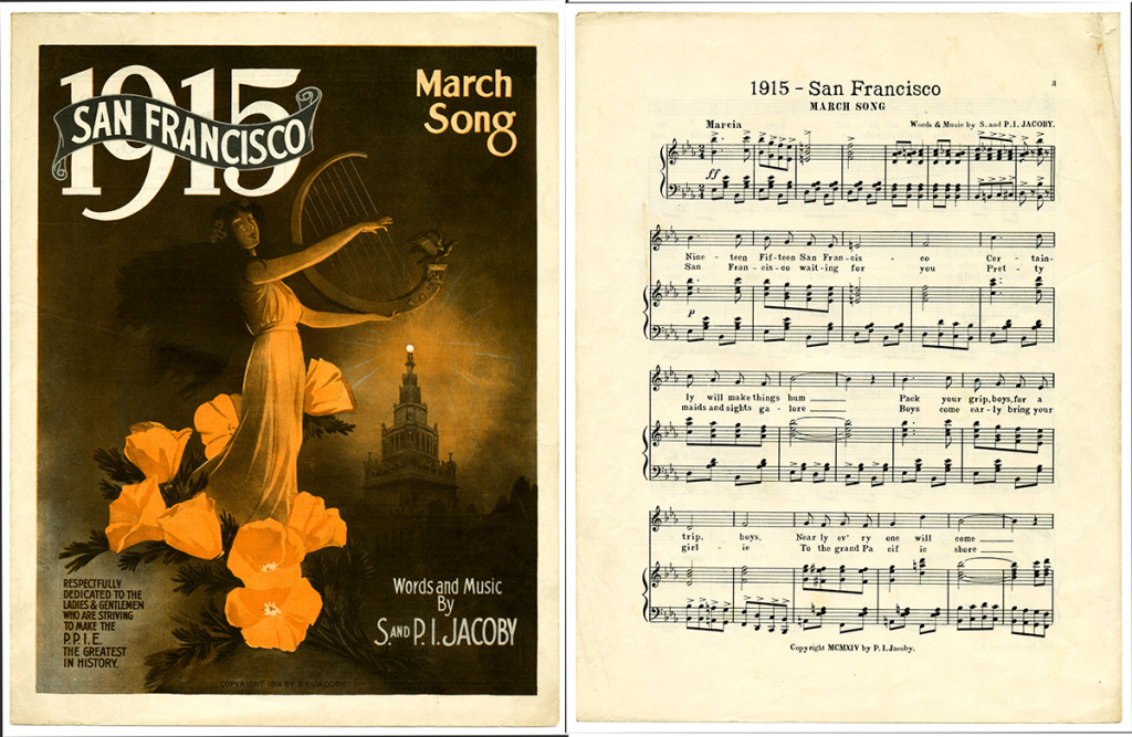 March Song, 1914 Words and Music by S. and P.I. Jacoby | Published by P.I. Jacoby | California Historical Society