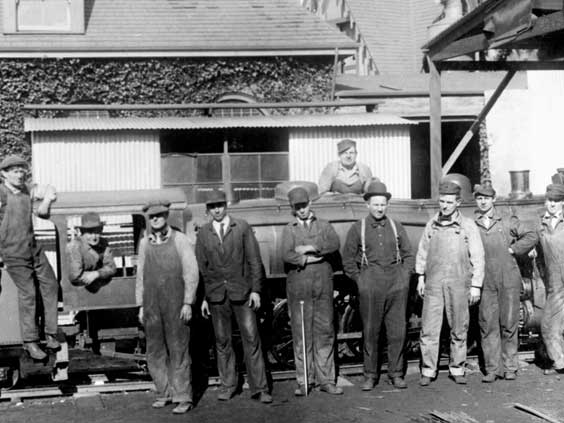 Many talented men designed and built the locomotives at the Oakland home