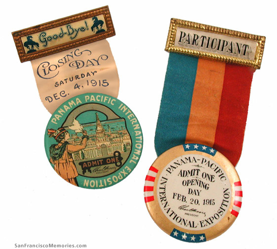 Opening and Closing Day Badges, 1915